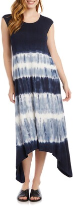 Karen Kane Tie Dye Handkerchief Hem Dress