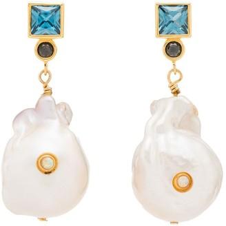 Anni Lu Bling pearl agate earrings