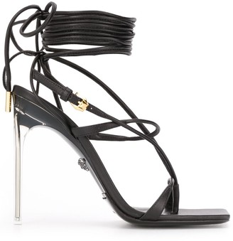 Versace Lace-Up Sandals