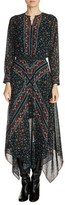 Maje Women's Print Handkerchief Hem Dress