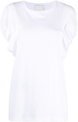 Allude puff-sleeve cotton T-shirt
