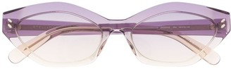 Stella Mccartney Eyewear Oval-Frame Gradient Sunglasses