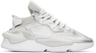Y-3 Y 3 Silver Kaiwa Sneakers