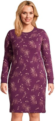 Lands' End Plus Size Serious Sweats French Terry Sheath Dress