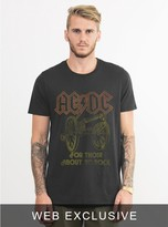 Junk Food Clothing Ac/dc For Those About To Rock Tee-bkwa-xxl