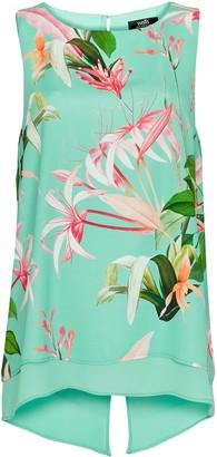 Wallis Mint Floral Print Cami Top