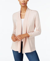 JM Collection Cropped Ruched-Sleeve Cardigan, Created for Macy's