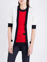 Gucci Contrast-trim knitted cardigan