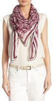 Loro Piana Printed Cashmere & Silk Scarf