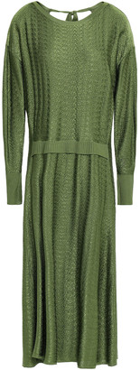 Esteban Cortazar Jacquard-knit Midi Dress