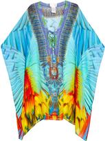 Camilla Flightful-print silk-georgette kaftan