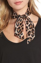 Kate Spade Women's Classic Leopard Skinny Silk Scarf