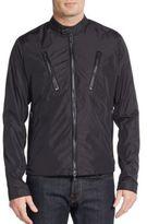 Michael Kors Leather-Trimmed Nylon Moto Jacket