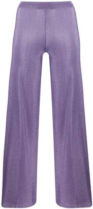 Missoni flared metallic trousers