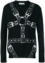 Moschino harness print sweater