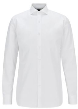 BOSS Slim-fit shirt in Italian cotton poplin