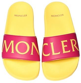 Moncler Sacha Logo Print Rubber Sandals