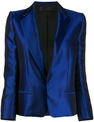 Haider Ackermann High Shine Jacquard Blazer