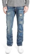 PRPS Men's 'Demon' Repaired Slim Straight Leg Jeans