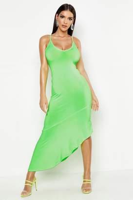 boohoo Asymmetric Hem Maxi Dress