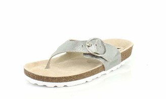 Mephisto Women's Natalina Sandals Silver 5 W US