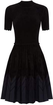 Sandro Contrast Hem Mini Dress