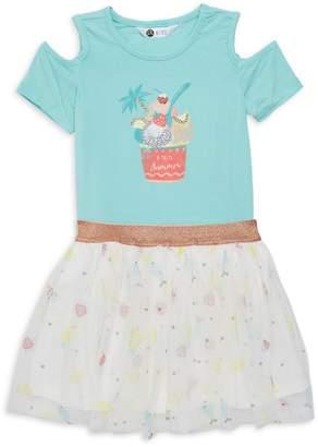 Petit Lem Little Girl's 2-Piece Ice-Cream Motif Tee & Skirt Dress