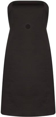 Coperni Strapless Cut-Out Bustier Dress