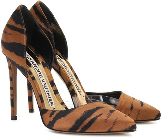 Alexandre Vauthier Angelina tiger-print satin pumps