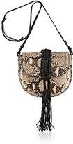 Altuzarra Women's Ghianda Knot Small Python Saddle Bag