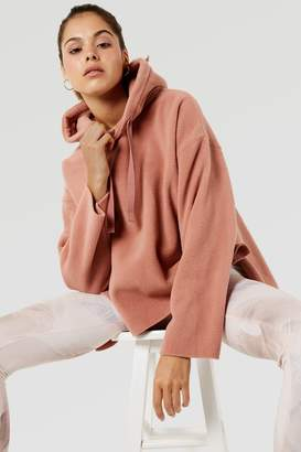Micha Lounge Oversized hoodie in pink tan