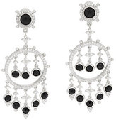Judith Ripka Sterling & 8.35 cttw Black Spinel Dangle Earrings