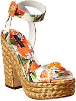 Dolce & Gabbana Ankle Wrap Patent Sandal