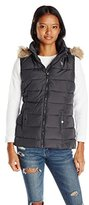 U.S. Polo Assn. Women's Long Vest with Faux Fur Trimmed Hood