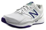 New Balance Wx824 Women Round Toe Leather White Sneakers.