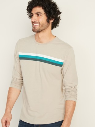 Old Navy Soft-Washed Chest-Stripe Long-Sleeve Tee for Men