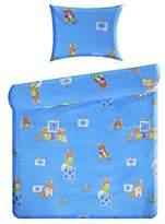 Taftan Inke and Taftan Duvet Cover Set 100 x 135cm for Cot Blue Insects