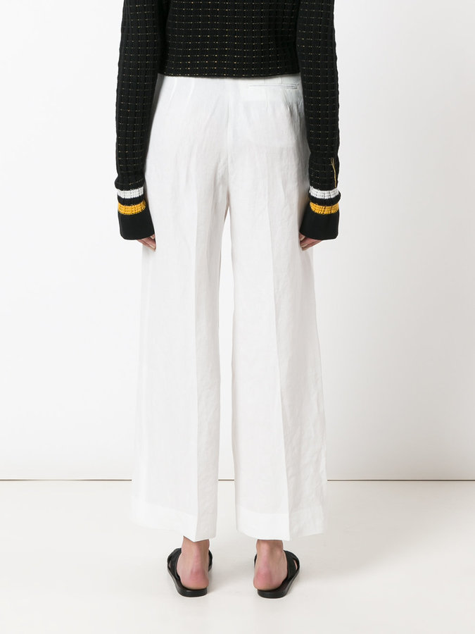 Ermanno Scervino cropped palazzo pants