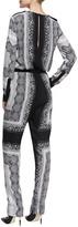 BCBGMAXAZRIA Ellah Printed Georgette Jumpsuit
