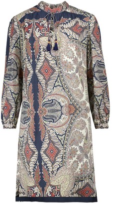 Etro Printed wool and silk minidress