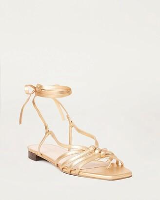 Loeffler Randall Lorelai Wrap Sandal Gold