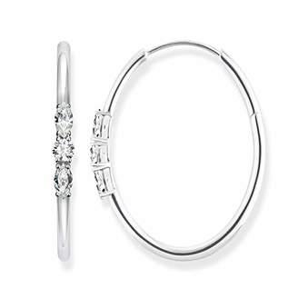 Thomas Sabo Women Silver Hoop Earrings CR633-051-14