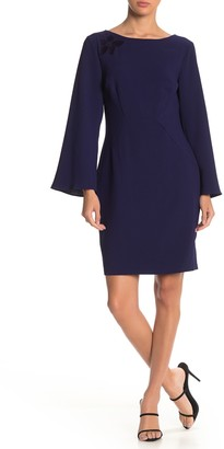 Trina Turk Engaging Bell Sleeve Mesh Back Dress