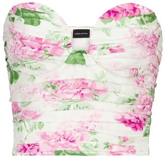Magda Butrym Floral silk satin bustier