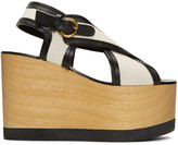 Isabel Marant Ecru Zlova Wedge Sandals