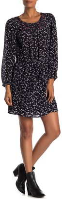 Velvet by Graham & Spencer Tracy Midnight Floral Embellished Tie Dress