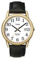 Timex Men's Easy Reader® Watch with Leather Strap - Gold/Black T2H2919J