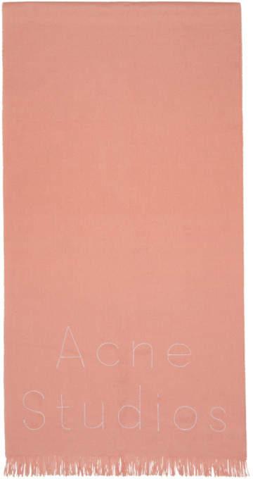 Acne Studios Pink Ontario Scarf
