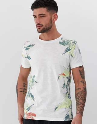Tom Tailor t-shirt with tropical side print-White