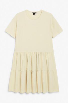 Monki Tiered smock dress